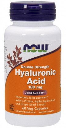 NOW Hyaluronic Asid 100mg. 60 кап.