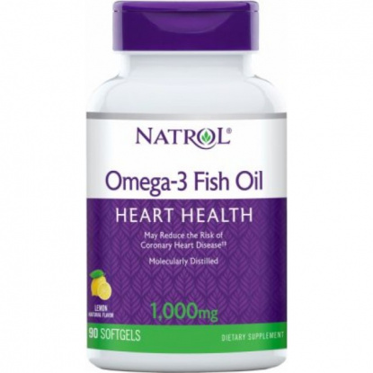 Natrol Omega-3 Fish Oil 1000mg. 60 капсул