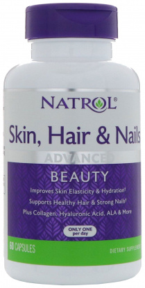 Natrol Skin Hair Nails with Lutein 60 табл