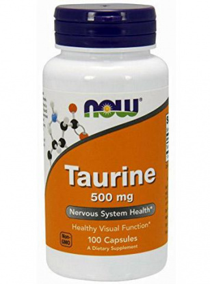 NOW Taurine 500mg. 100 кап.