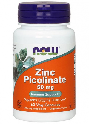 NOW Zink Picolinate (Цинк) 50mg. 60 кап.