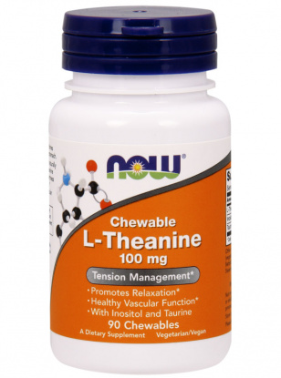NOW L-Theanine 100mg. 90 кап.