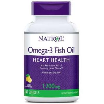 Natrol Omega-3 Fish Oil 1200mg. 60 капсул