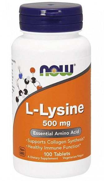 NOW L-Lysine 500mg. 100 таб.