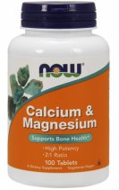 NOW Calcium & Magnesium 500/250mg 100 таб.