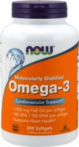 Now Omega-3 Fish Oil 1000 мг. 200 кап.