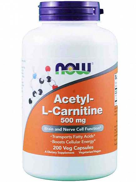 Now Acetyl L-Carnitine (ацетил Л-карнитин) 50 кап. 100 мг.