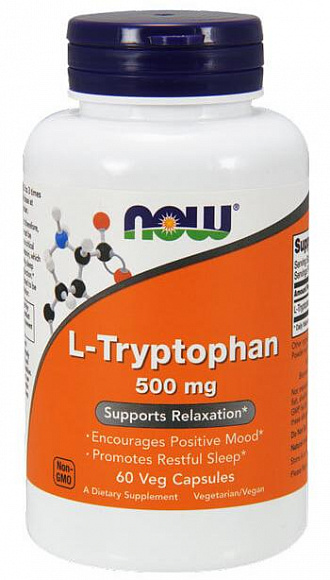 NOW L-Tryptophan 500mg. 60 кап.